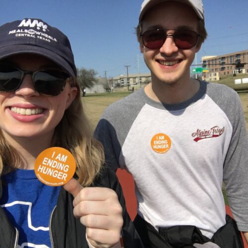 Brooke Ostrom and Kade Keith at CROP walk to end hunger