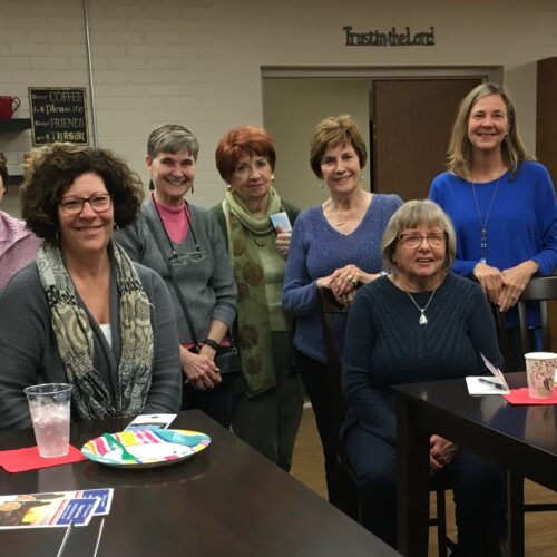 Sisters in Service with guest speaker in Library