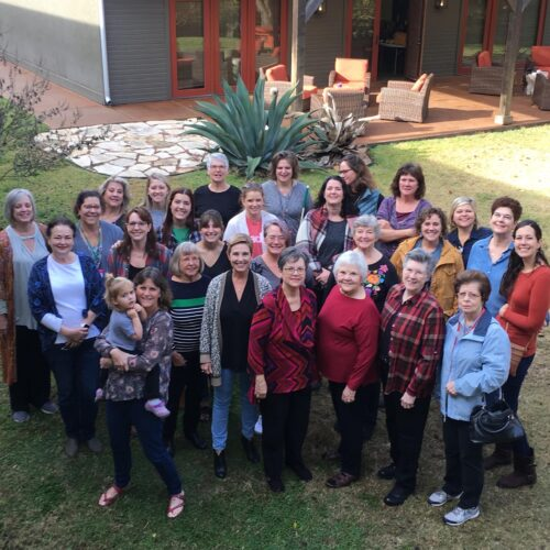 Group photo for Womanfest Retreat at Fredericksburg Inn and Suites