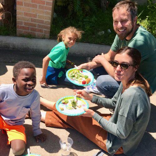 Morton family enjoys Palm Sunday picnic