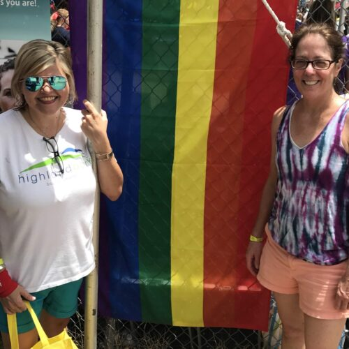 Kristin Werner and Cathy Glazener at Pride Festival