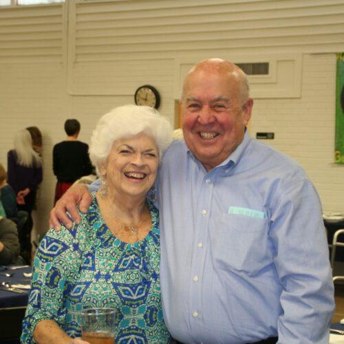Judy & Herb Wilson enjoy fellowship luncheon in Sapp Hall