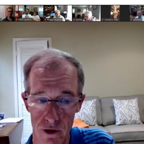 Walt Shelton teaches on Zoom