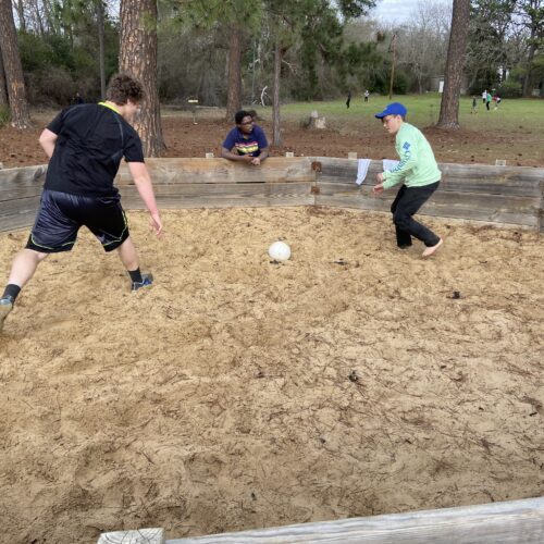 Eamon Neas playing Gaga Ball