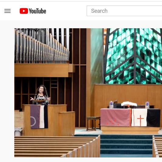Cheryl Kimble preaches on YouTube livestream