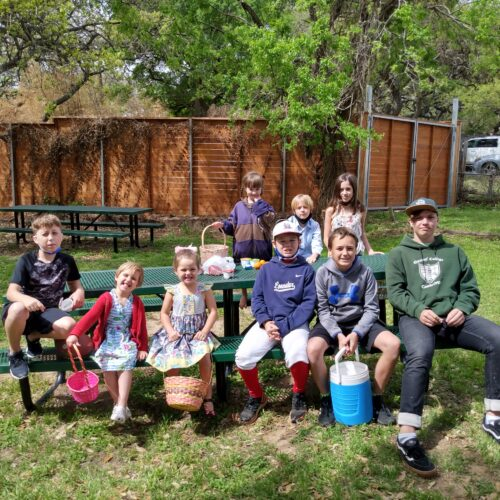 Kids and Youth gather for the Annual Easter Egg Hunt