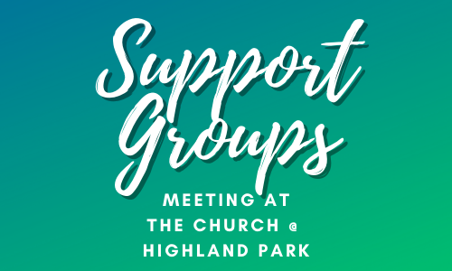 Support Groups Meeting logo with blue and green gradient background